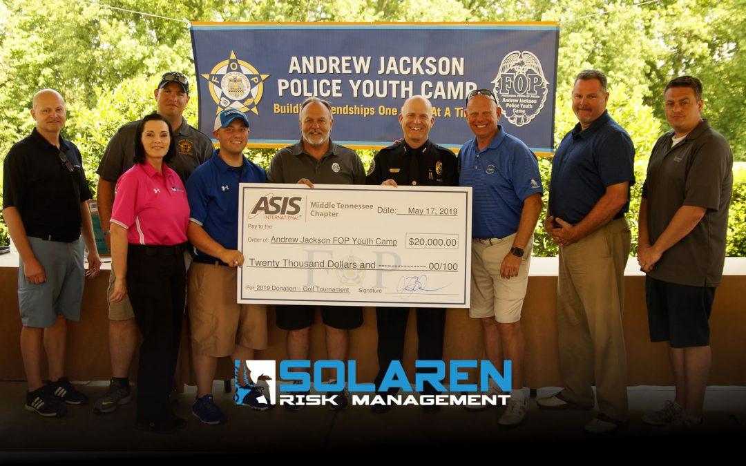 Solaren Risk Management Title Sponsor for ASIS Middle TN Charity Golf Tournament