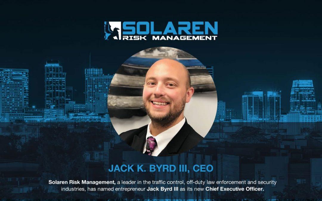 Entrepreneur Jack Byrd III Named New Chief Executive Officer of Solaren Risk Management
