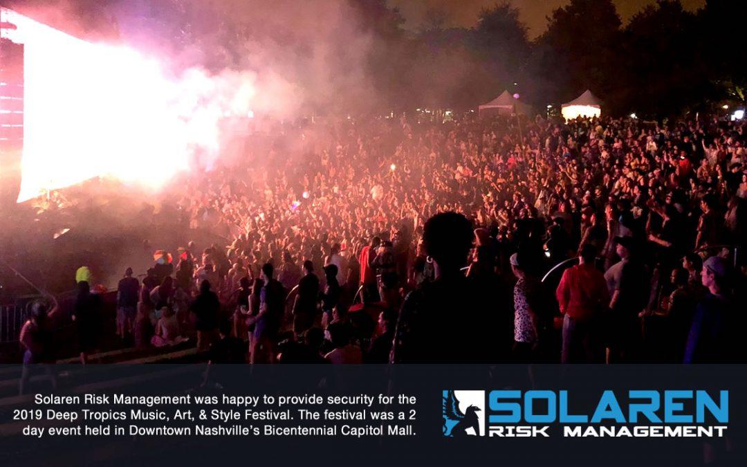 Solaren Risk Management Provided Security For Deep Tropics Music Festival
