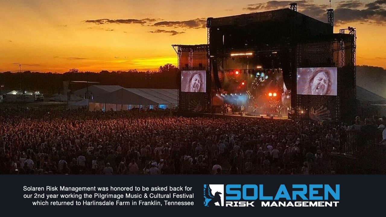 Solaren Risk Management was happy to provide security for the Pilgrimage Music & Cultural Festival at Harlinsdale Farm in Franklin