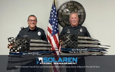Solaren Honors Two Of Our Law Enforcement Officers For Going Above & Beyond The Call Of Duty