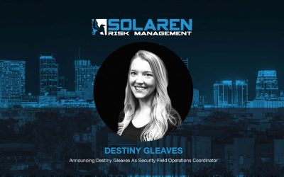 Announcing Destiny Gleaves as Security Field Operations Coordinator