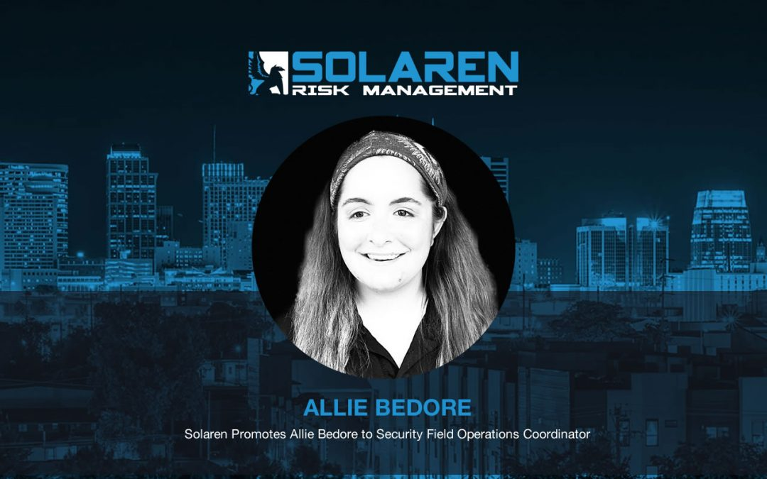 Solaren Promotes Allie Bedore to Security Field Operations Coordinator