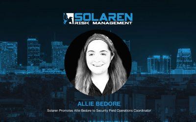 Solaren Promotes Allie Bedore to Security Field Operations Coordinator