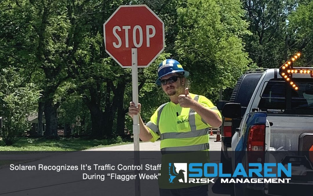 """Solaren Recognizes It's Traffic Control Staff During """"Flagger Week"""""""