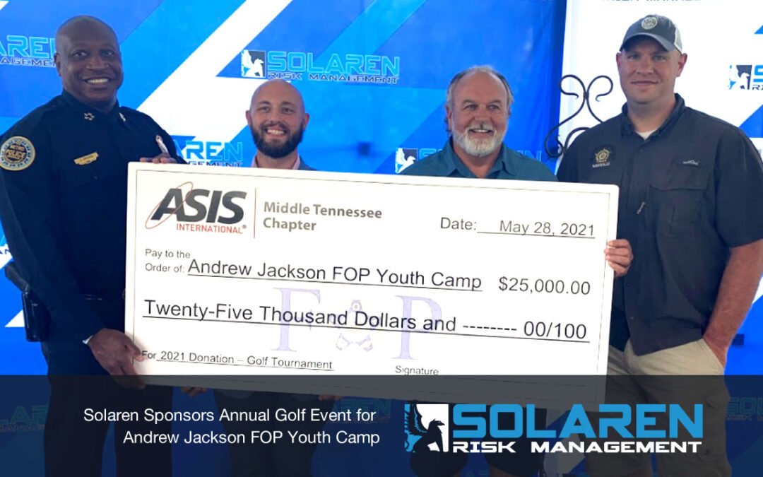 Solaren Sponsors Annual Golf Event for Andrew Jackson FOP Youth Camp