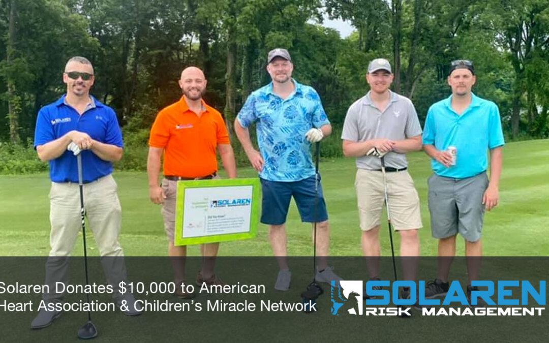 Solaren Donates $10,000 to American Heart Association & Children's Miracle Network
