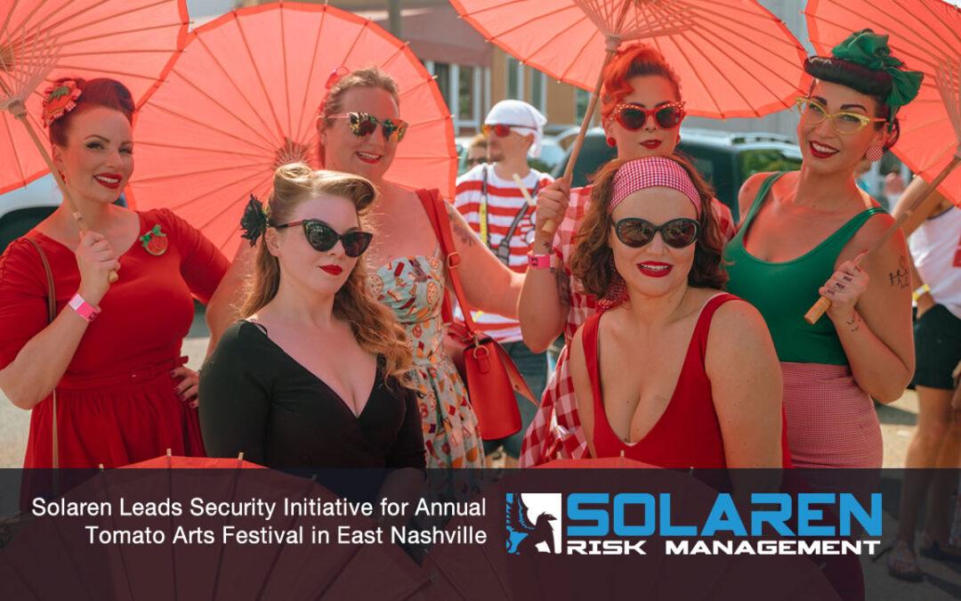 Solaren Leads Security Initiative for Annual Tomato Arts Festival in East Nashville
